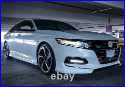 For 2018 2019-2020 10th Gen Honda Accord Front Lip Splitter White High Quality