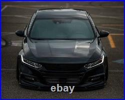 For 2018-2020 10th Gen Honda Accord Front Bumper Spoiler Glossy Black