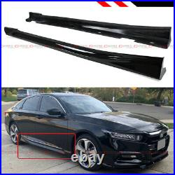For 2018-2020 10th Gen Honda Accord Gloss Black Add-on JDM Side Skirt Extension