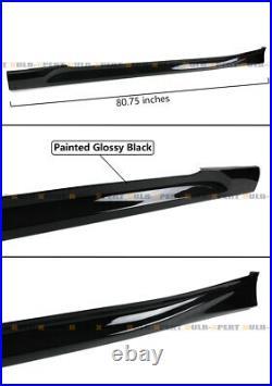 For 2018-2020 10th Gen Honda Accord Painted Gloss Black JDM Side Skirt Extension