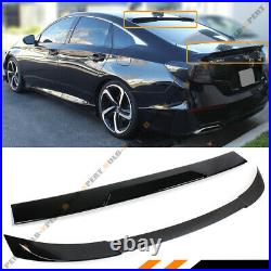 For 2018-2020 Accord Akasaka Painted Black Trunk LID + Rear Window Roof Spoiler