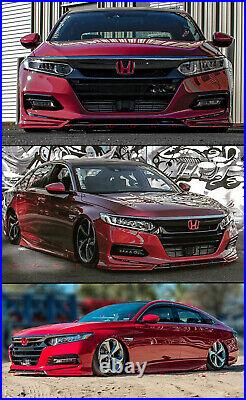 For 2018-2020 Accord Painted San Marino Red Yofer Front Bumper Lip Splitter Kit