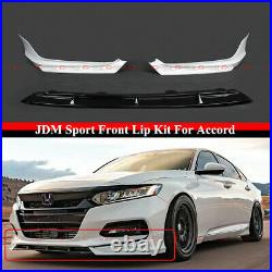 For 2018-2020 Accord Painted White Pearl YF Style Front Bumper Lip Splitter Kit
