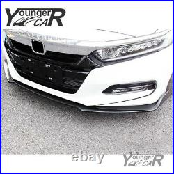 For 2018-2020 Honda Accord 10th Gen Front Lip Bumper Spoiler Carbon Fiber Style