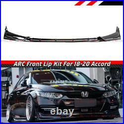 For 2018-2020 Honda Accord ACR Painted Black Pearl Front Bumper Lip Splitter Kit