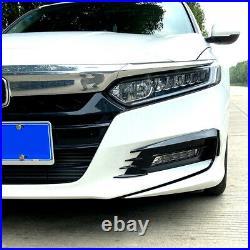 For 2018- 2020 Honda Accord Akasaka Gloss Blk Fog Light Lamp Cover Trim Garnish