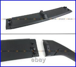 For 2018-2020 Honda Accord Akasaka Matt Black Front Bumper Lip Splitter 5 Pc Kit