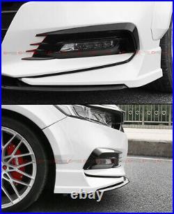 For 2018-2020 Honda Accord Akasaka White Pearl Front Bumper Lip Splitter Kit