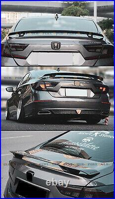 For 2018-2021 10th Gen Honda Accord Yofer V2 Jdm Gloss Black Trunk Spoiler Wing