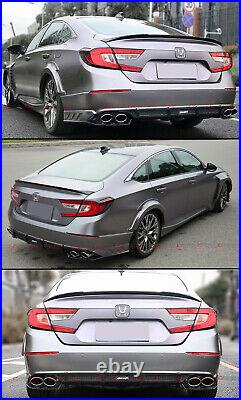 For 2018-2021 Accord Sport Touring Akasaka Quad Tip Exhaust Finisher + Diffuser