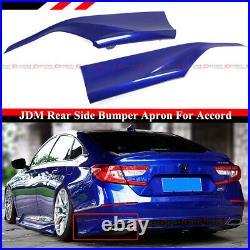 For 2018-2021 Accord Yofer Still Night Pearl Blue Rear Bumper Corner Apron Spat