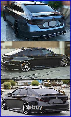 For 2018-2021 Honda Accord Akasaka Glossy Black Trunk Spoiler + Rear Roof Visor