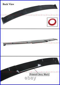 For 2018-2021 Honda Accord Akasaka Painted Black Trunk Spoiler + Rear Roof Visor