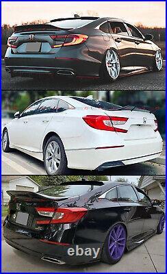 For 2018-2021 Honda Accord Jdm V2 High Kick Black Pearl Duckbill Trunk Spoiler