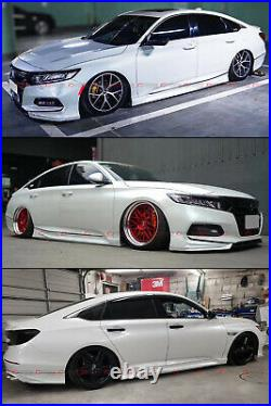 For 2018-2021 Honda Accord Platinum White Pearl Add-on JDM Side Skirt Extensions