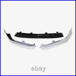 For 2018-20 10th Gen Honda Accord Front Bumper Spoiler Lip Splitter White 3pcs