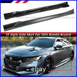 For 2018-21 Honda Accord Modern Steel Metallic Add-on JDM Side Skirt Extensions