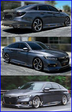 For 2018-21 Honda Accord Modern Steel Metallic Add-on JDM Side Skirt Extensions