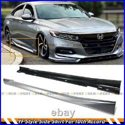 For 2018-21 Honda Accord Painted Lunar Silver Metallic JDM Side Skirt Extensions