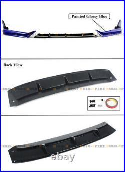 For 2021-2022 Honda Accord Yofer Still Night Pearl Front Bumper Lip Splitter Kit