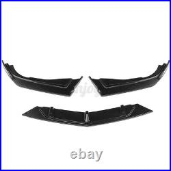 For Honda Accord 10th Gen 2018-2020 Front Bumper Lip Splitter Spoiler Black 3PCS