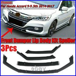 For Honda Accord 9th 9.5th 2014-2017 Front Bumper Lip Body Kit Spoiler Splitter