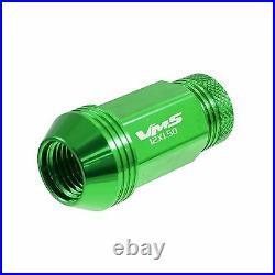 Gen 2 Vms 16 Green 48mm Aluminum Open End Tuner Lug Nuts Wheels Rims 12x1.5 Set