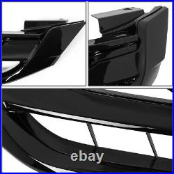 Gloss Black Front Bumper Upper Grille/grill For 13-15 Honda Accord Sedan 9th Gen