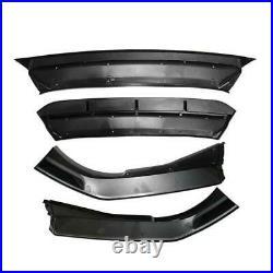Glossy Black Front Bumper Lip Spoiler Wing For 18-19 Honda Accord 10th Gen Sport