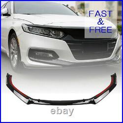 Glossy Front Lip Spoiler Body Kit For 2018-2020 Honda Accord 10TH GEN SPORT JDM