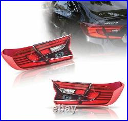 LED Red Tail Lights For Honda Accord 10th Gen 2018-2020 Rear Lamps Assembly