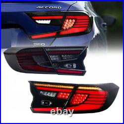 LED Smoked Tail Lights For Honda Accord 10th Gen 2018-2021 Rear Lamps Assembly
