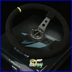 NRG 130H HUB+CARBON GEN 2.0 QUICK RELEASE+3DISH STEERING WHEEL SUEDE WithMARKING