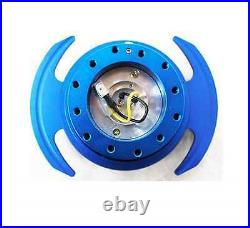 NRG GEN 3.0 Steering Wheel QUICK RELEASE KIT with Shift Paddle (BLUE Finish)