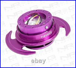 NRG GEN 3.0 Steering Wheel QUICK RELEASE KIT with Shift Paddle (PURPLE Finish)