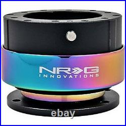NRG Gen 2.0 Steering Wheel Quick Release Hub Black Body / NEO Chrome Ring