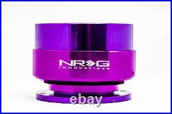 NRG STEERING WHEEL GEN 2.0 QUICK RELEASE ADAPTOR KIT PURPLE Body & PURPLE Ring
