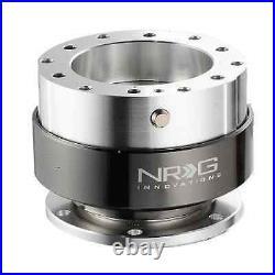 NRG STEERING WHEEL QUICK RELEASE KIT GEN 1.5 (SILVER Body & Black Chrome Ring)