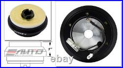 NRG Steering Wheel Hub + Black Gen3 Quick Release with BK Ring Civic Accord CL