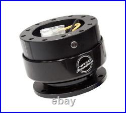 NRG Steering Wheel Quick Release Kit Gen 2.0 BLACK Body & BLACK TITANIUM Ring