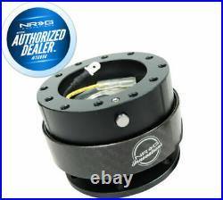 NRG Steering Wheel Quick Release Kit Gen 2.0 BLACK Body & CARBON FIBER Ring