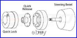 NRG Steering Wheel Short Hub 110H + Black Gen2.5 Quick Release BK + Lock LB