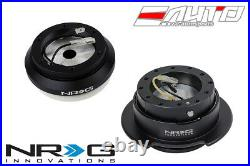 NRG Steering Wheel Short Hub SRK-110H + Black Gen2.5 Quick Release with Black Ring