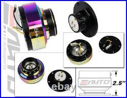 NRG Steering Wheel Short Hub SRK-110H + Black Gen2 Quick Release Neo Chrome Ring