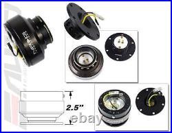 NRG Steering Wheel Short Hub SRK-110H + Black Gen2 Quick Release with Ti Chrome