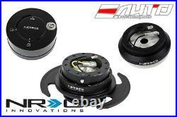 NRG Steering Wheel Short Hub SRK-110H + Black Gen3 Quick Release + Shine Lock
