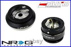 NRG Steering Wheel Short Hub SRK-130H + Black Gen2 Quick Release with Carbon Ring
