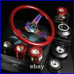 Nrg 110h Red Hub+gen 1.5 Quick Release+3deep Dish Iridium Spoke Steering Wheel