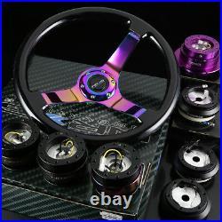 Nrg 130h Hub+black+neo Chrome Gen2.0 Quick Release+3deep Wood Steering Wheel
