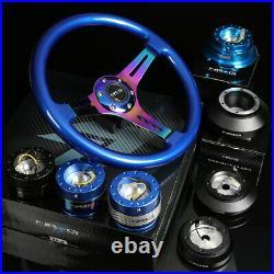 Nrg 130h Hub+blue Gen 2.0 Quick Release+3deep Dish Iridium Spoke Steering Wheel